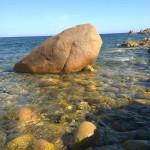 roccia, fondale alto, locanda del mare